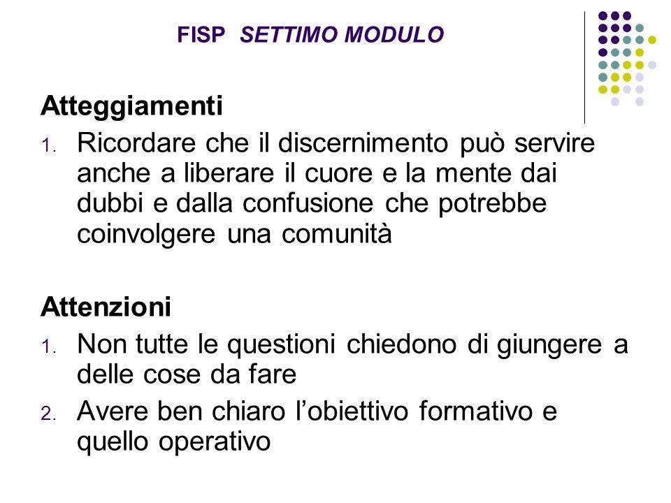 FISP SETTIMO MODULO Atteggiamenti 1.