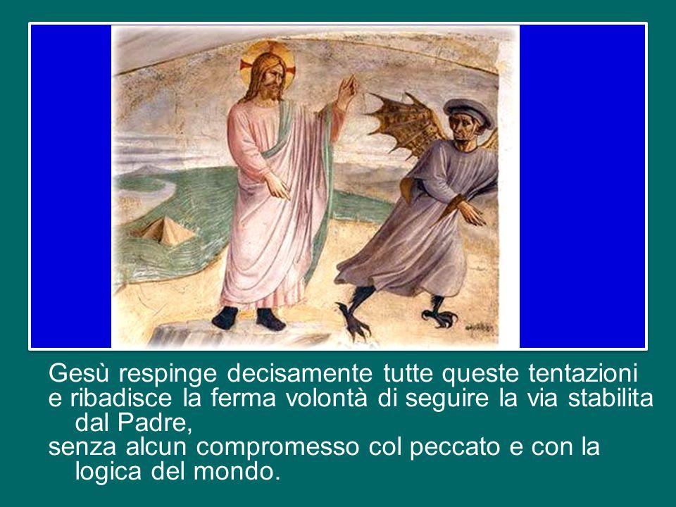lo stile spettacolare e miracolistico, con l'idea di buttarsi giù dal punto più alto del tempio di Gerusalemme e farsi salvare dagli angeli; e infine