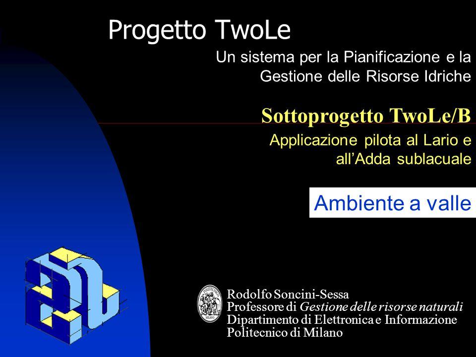 TwoLe 2 TwoLe/B Riunione d'avvio 06.05.2005  Indice ambiente valle non separabile  Ricerca indice separabile  ----formula