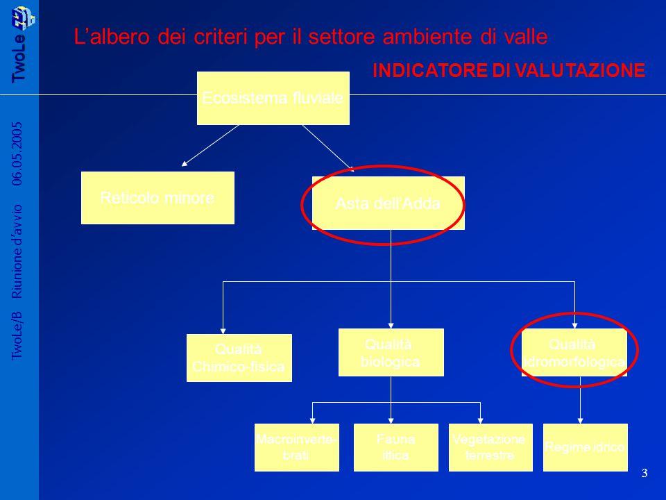 TwoLe 4 TwoLe/B Riunione d'avvio 06.05.2005 Albero dei criteri del regime idrologico