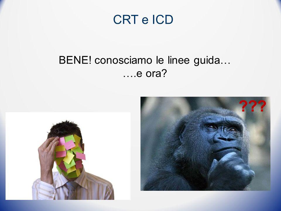CRT e ICD BENE! conosciamo le linee guida… ….e ora? ???