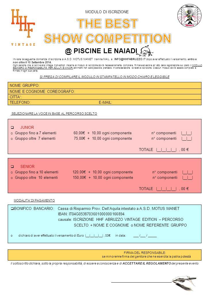 @ PISCINE LE NAIADI Inviare la seguente domanda d iscrizione a A.S.D.