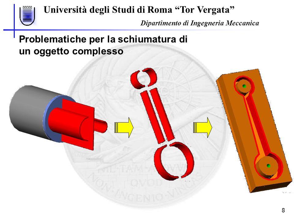 """Università degli Studi di Roma """"Tor Vergata"""" Dipartimento di Ingegneria Meccanica 8 Problematiche per la schiumatura di un oggetto complesso"""