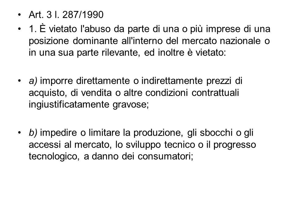 Art. 3 l. 287/1990 1.
