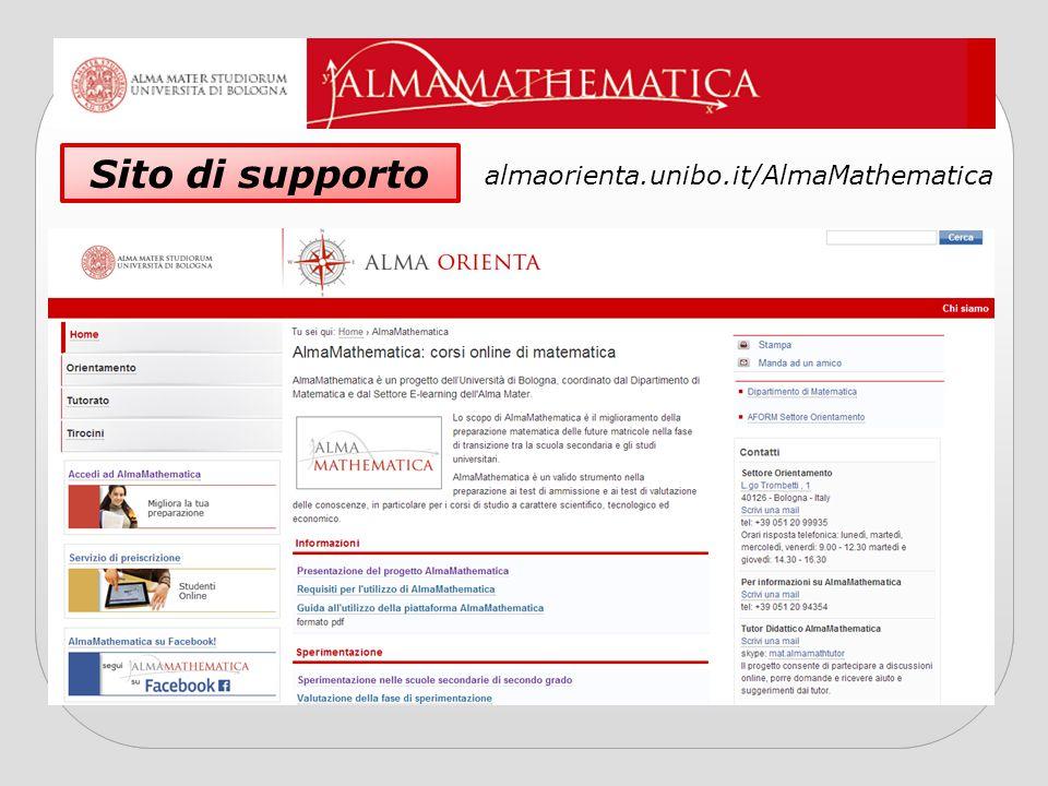 Sito di supporto almaorienta.unibo.it/AlmaMathematica