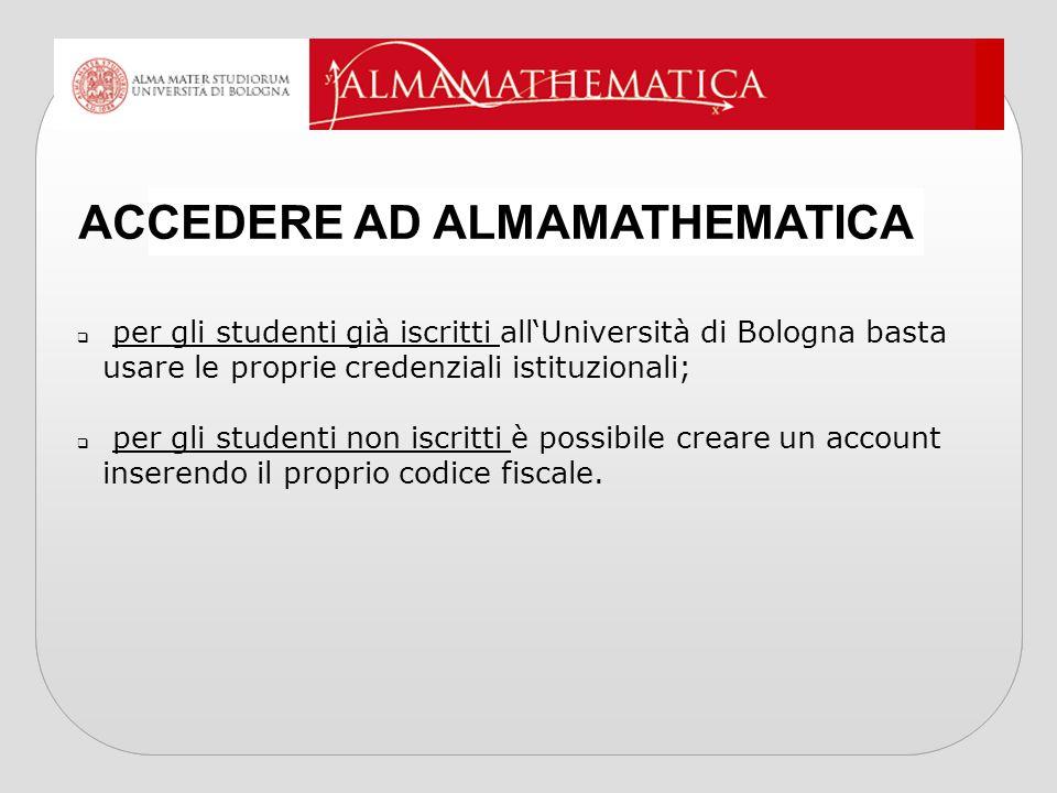  per gli studenti già iscritti all'Università di Bologna basta usare le proprie credenziali istituzionali;  per gli studenti non iscritti è possibil