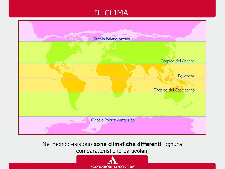 Nel mondo esistono zone climatiche differenti, ognuna con caratteristiche particolari. IL CLIMA