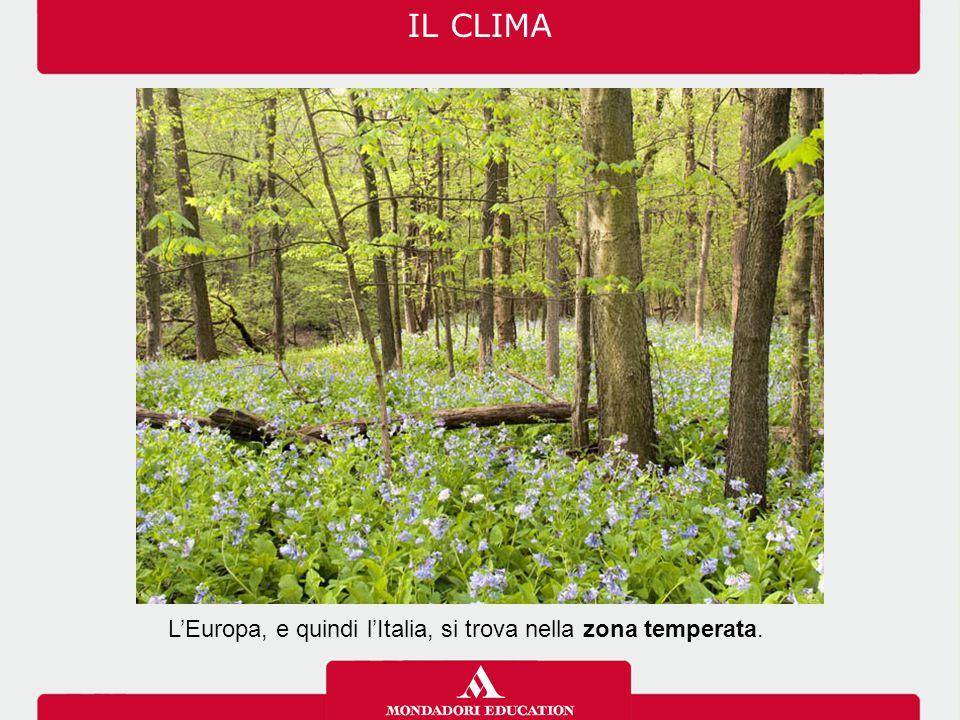 L'Italia è caratterizzata dalla presenza di sei differenti regioni climatiche. IL CLIMA