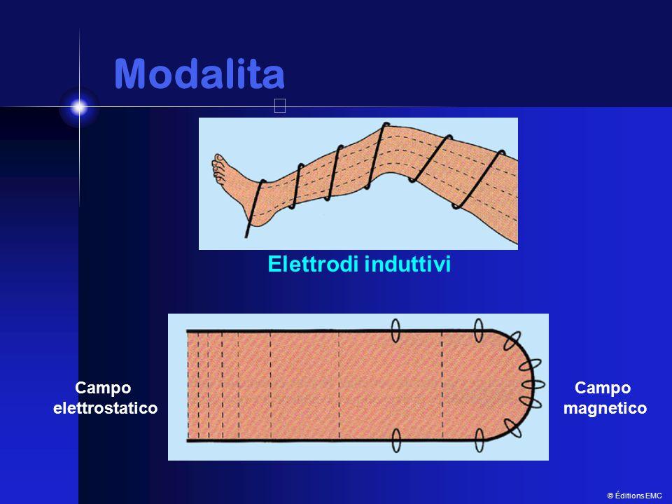 Modalita Modalita Elettrodi induttivi Campo magnetico Campo elettrostatico © Éditions EMC