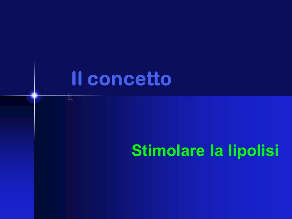 Il concetto Stimolare la lipolisi