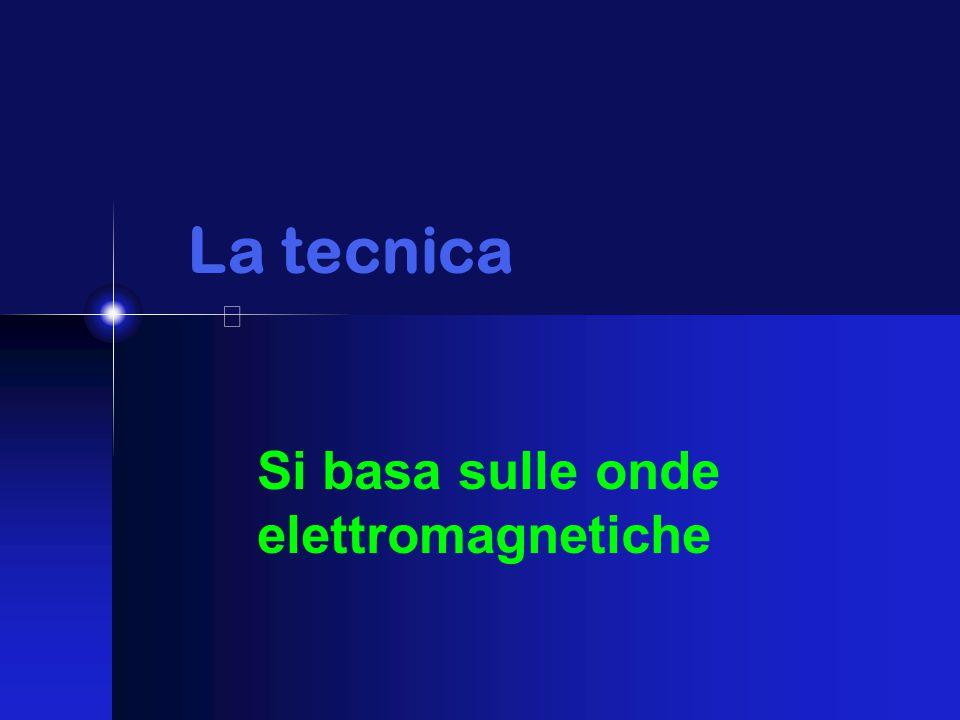 La tecnica Si basa sulle onde elettromagnetiche