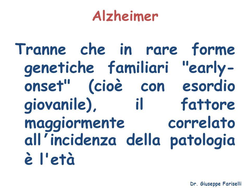 Alzheimer Tranne che in rare forme genetiche familiari