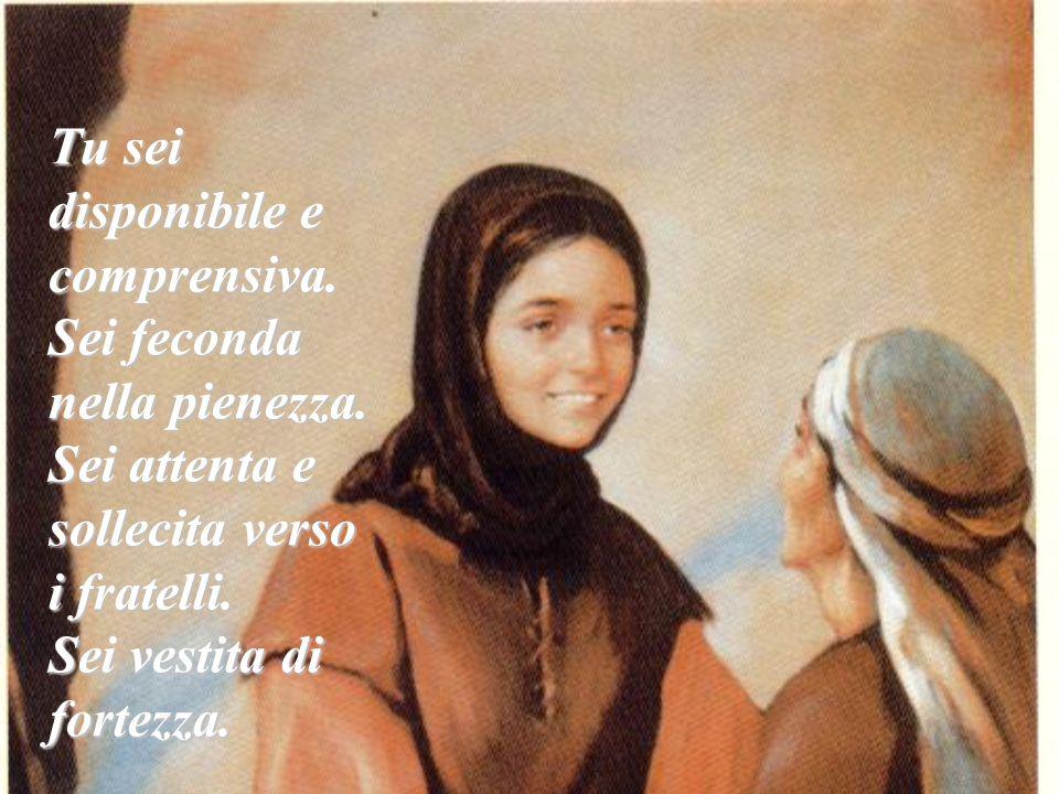 Madre del Silenzio e dell'Umiltà, Tu vivi perduta e ritrovata nel mare senza fondo del mistero del Signore.