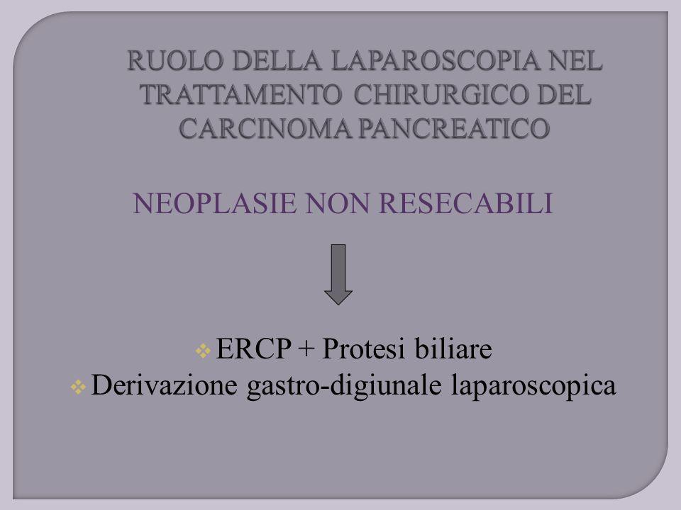 NEOPLASIE NON RESECABILI EERCP + Protesi biliare DDerivazione gastro-digiunale laparoscopica