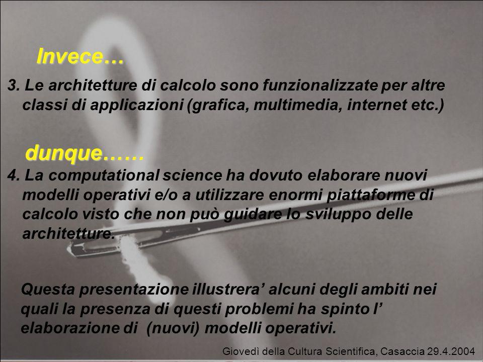 Giovedì della Cultura Scientifica, Casaccia 29.4.2004 Invece… 3.