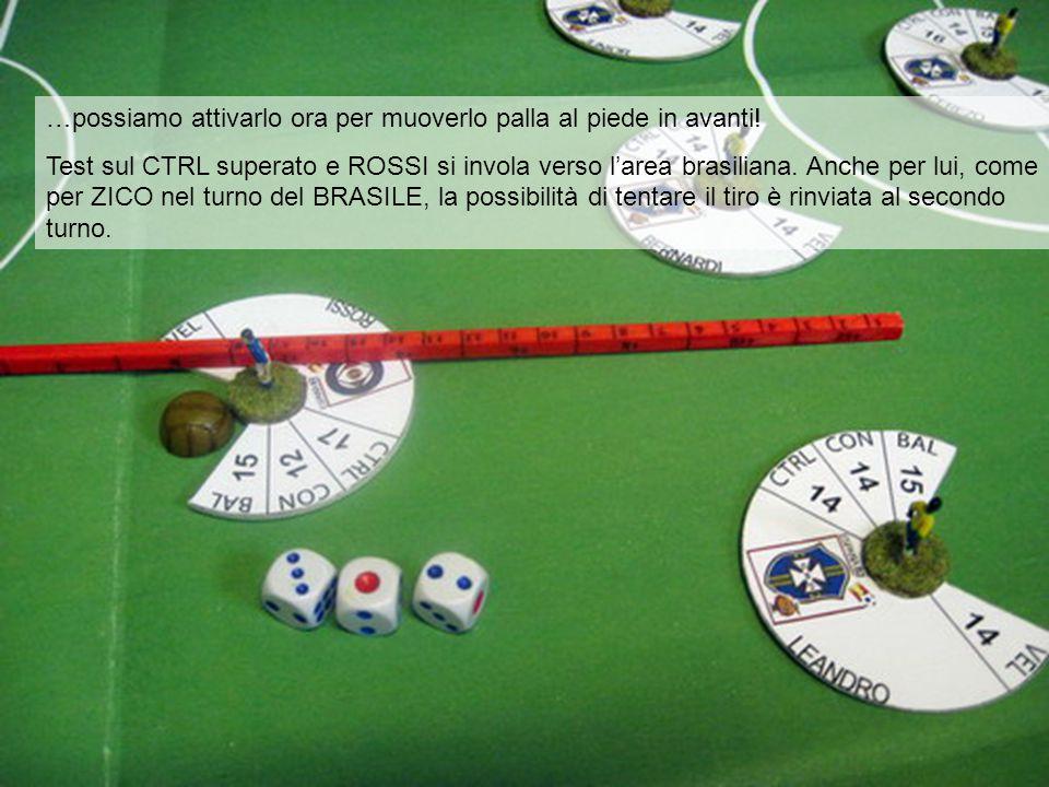 …possiamo attivarlo ora per muoverlo palla al piede in avanti! Test sul CTRL superato e ROSSI si invola verso l'area brasiliana. Anche per lui, come p