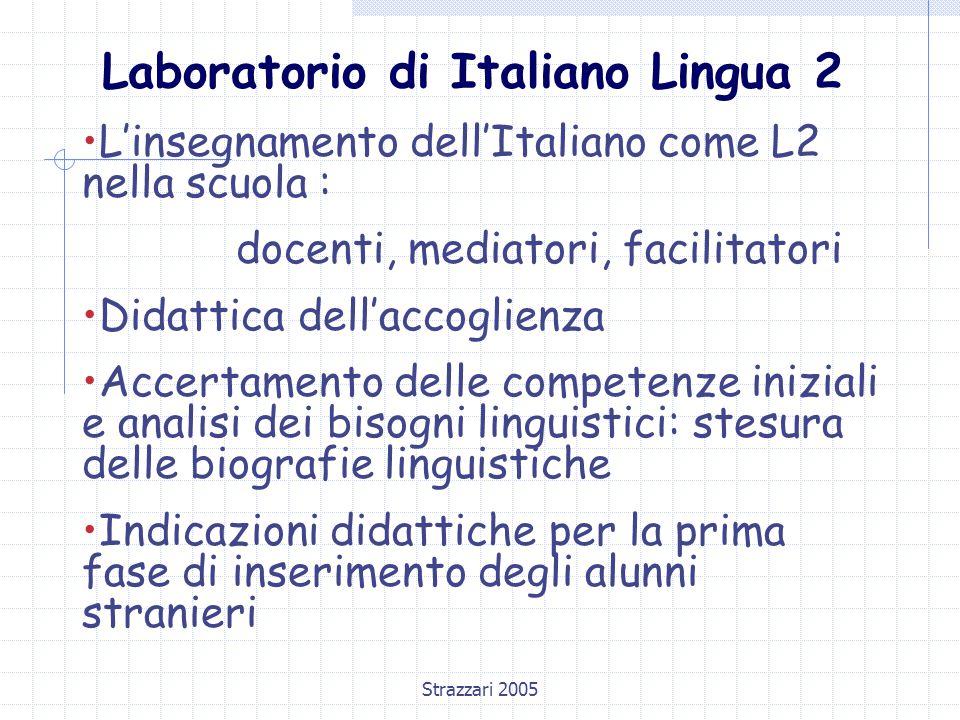 Strazzari 2005 Le variabili nel quadro dell'accoglienza  L'ETA'  La SCOLARITA' precedente : - Che tipo di scuola ha frequentato.