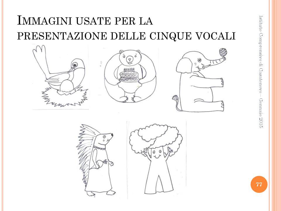 I MMAGINI USATE PER LA PRESENTAZIONE DELLE CINQUE VOCALI Istituto Comprensivo di Casatenovo – Gennaio 2015 77