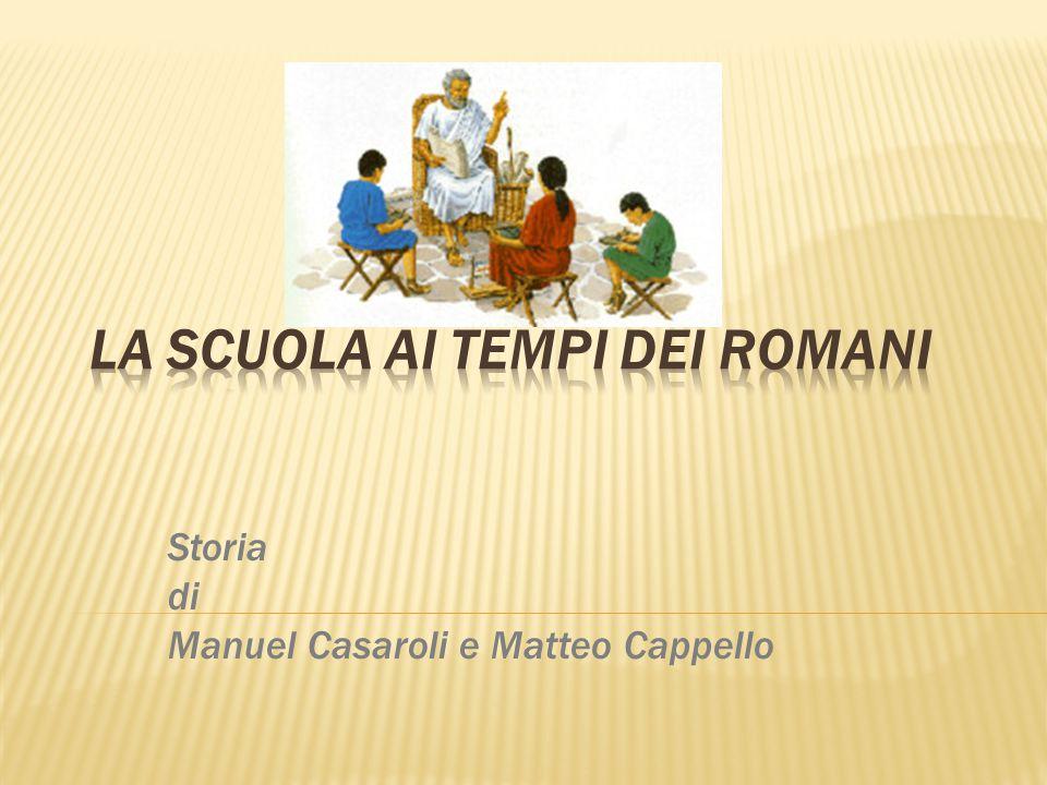 Storia di Manuel Casaroli e Matteo Cappello.
