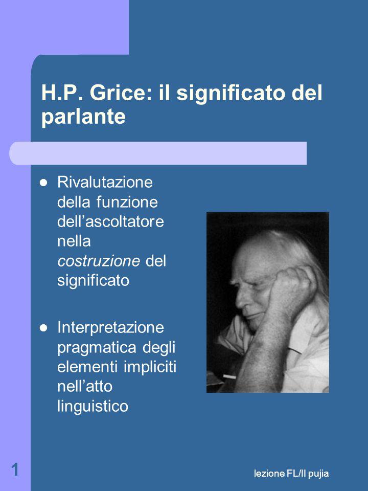 lezione FL/II pujia 1 H.P.