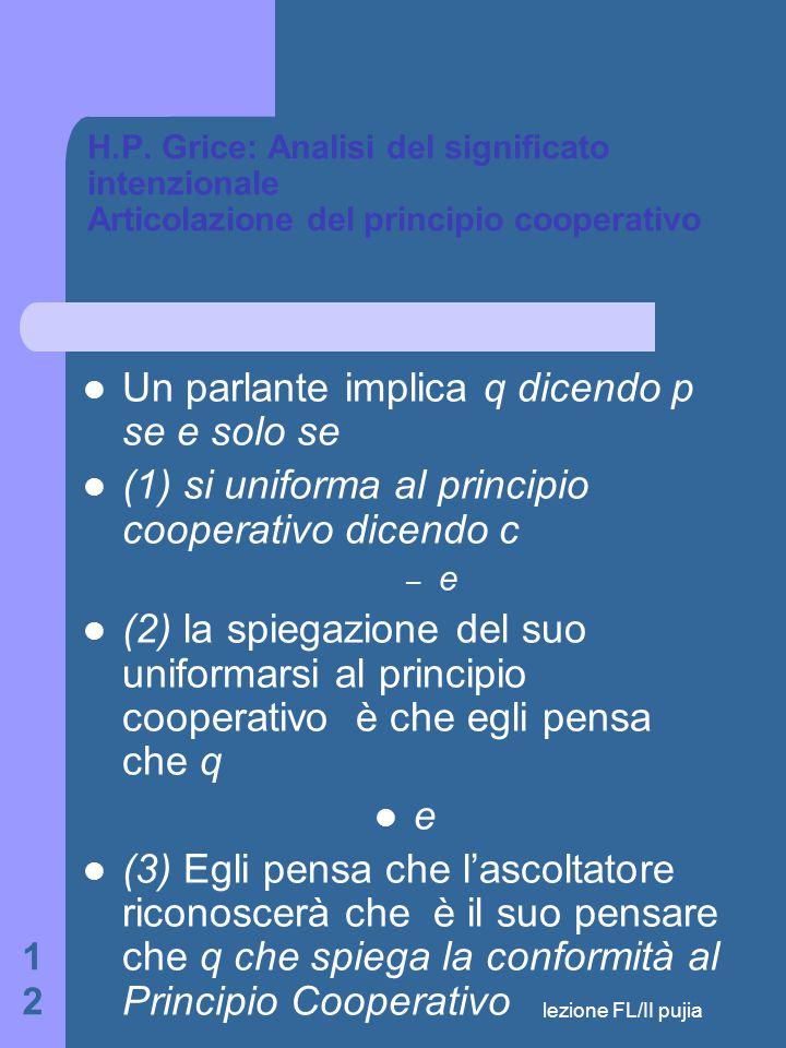 lezione FL/II pujia 12 H.P.