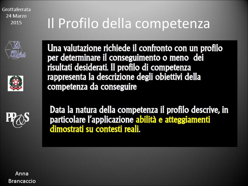 Grottaferrata 24 Marzo 2015 Anna Brancaccio Il Profilo della competenza