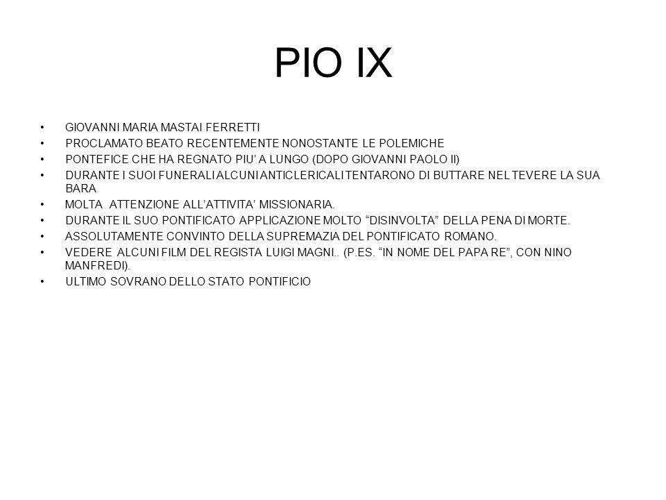 PIO IX ENCICLICA …….. ……… (1864) CON IL ………………. CONDANNA DEGLI ERRORI DEL TEMPO