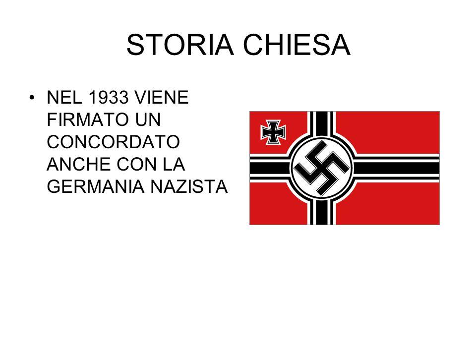 STORIA CHIESA NEL 1933 VIENE FIRMATO UN CONCORDATO ANCHE CON LA GERMANIA NAZISTA