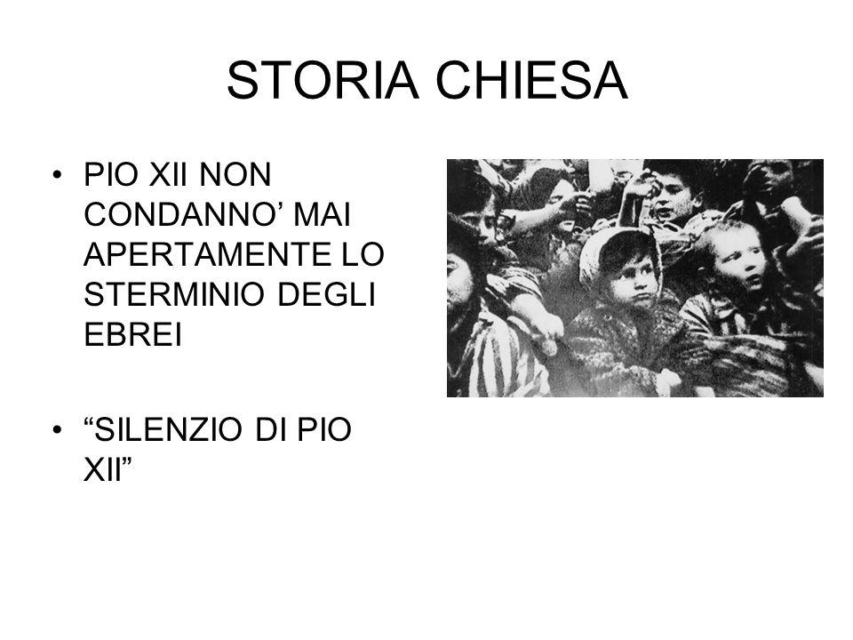 """STORIA CHIESA PIO XII NON CONDANNO' MAI APERTAMENTE LO STERMINIO DEGLI EBREI """"SILENZIO DI PIO XII"""""""