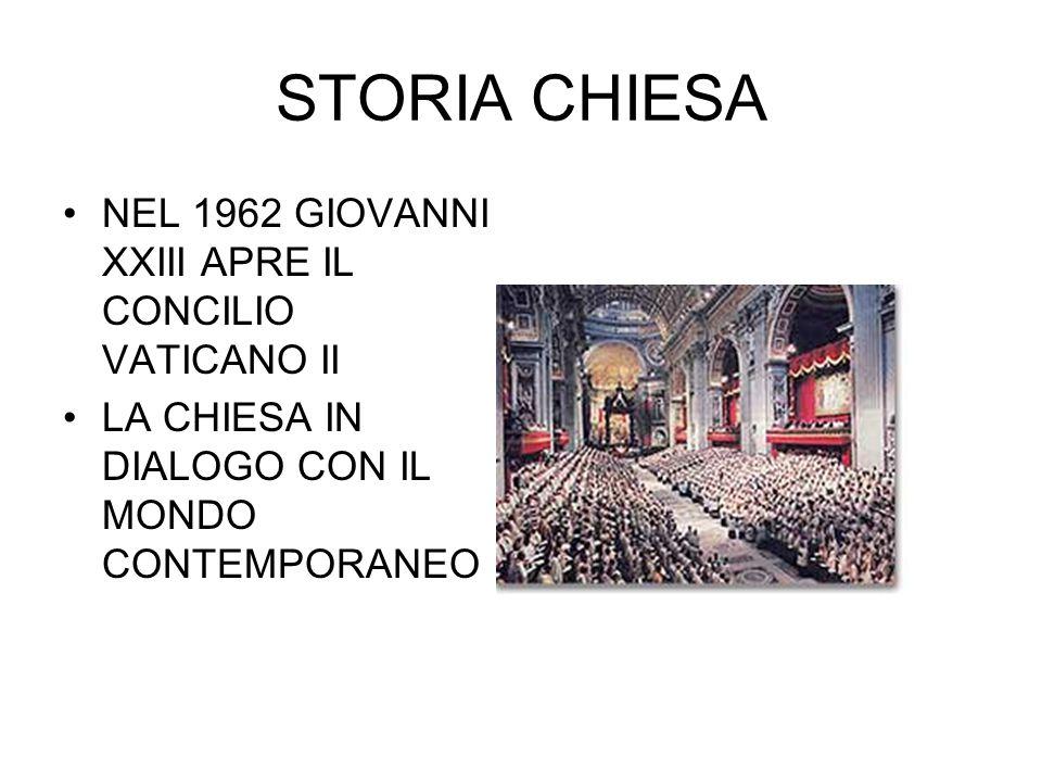 STORIA CHIESA NEL 1962 GIOVANNI XXIII APRE IL CONCILIO VATICANO II LA CHIESA IN DIALOGO CON IL MONDO CONTEMPORANEO