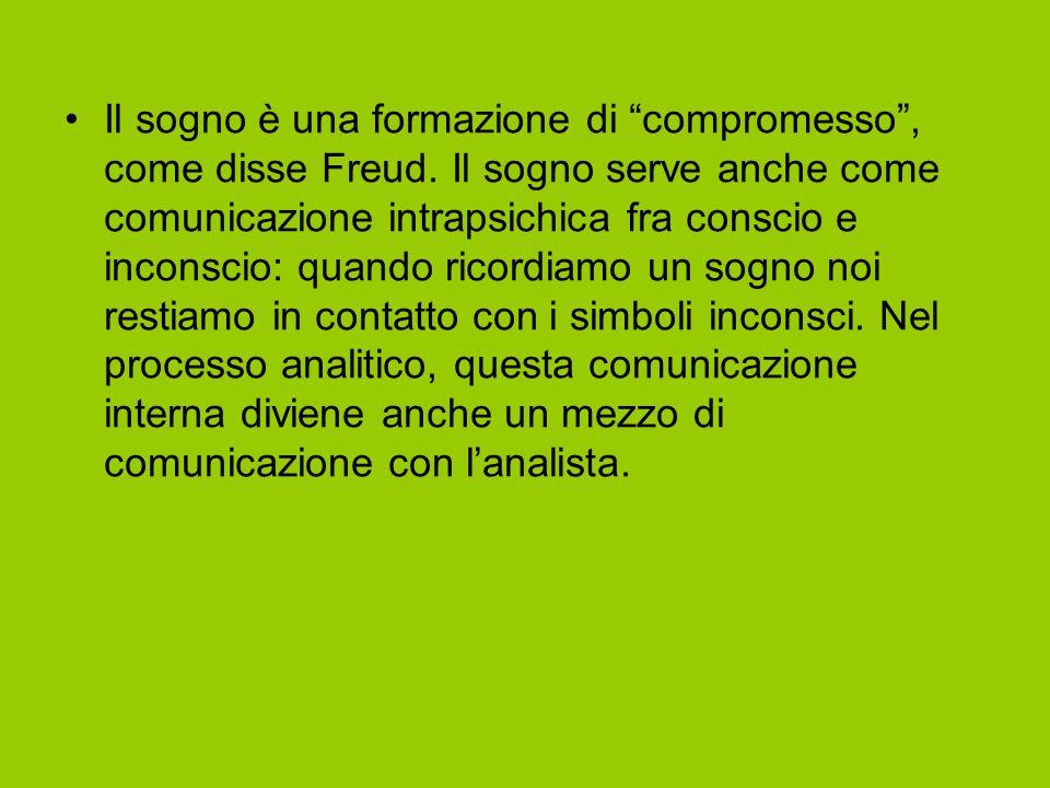 """Il sogno è una formazione di """"compromesso"""", come disse Freud. Il sogno serve anche come comunicazione intrapsichica fra conscio e inconscio: quando ri"""