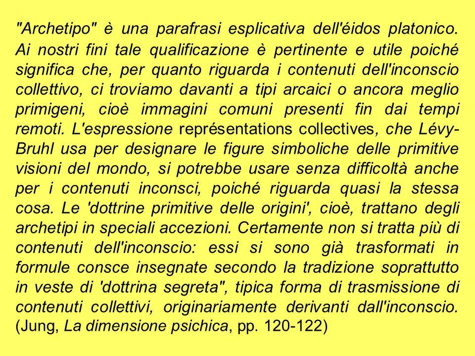 Archetipo è una parafrasi esplicativa dell éidos platonico.