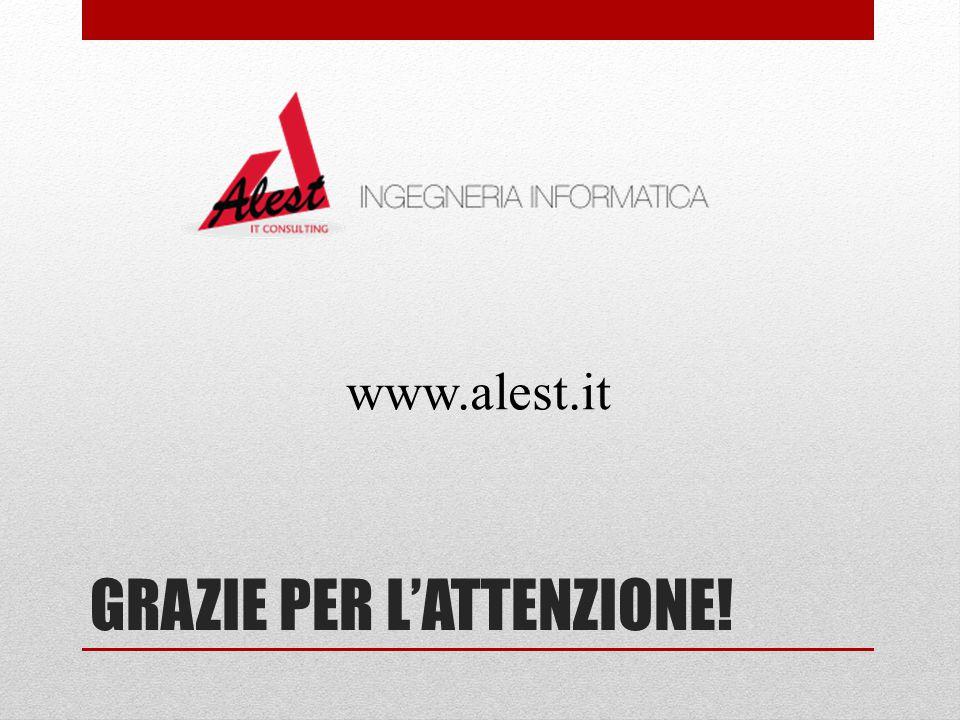 GRAZIE PER L'ATTENZIONE! www.alest.it
