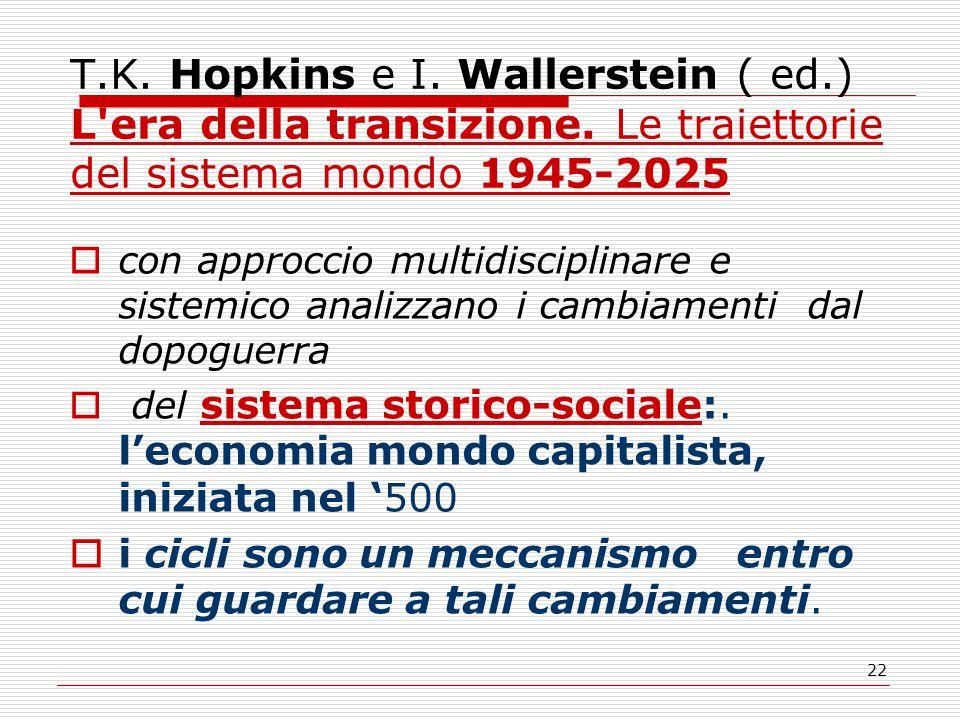 22 T.K. Hopkins e I. Wallerstein ( ed.) L era della transizione.