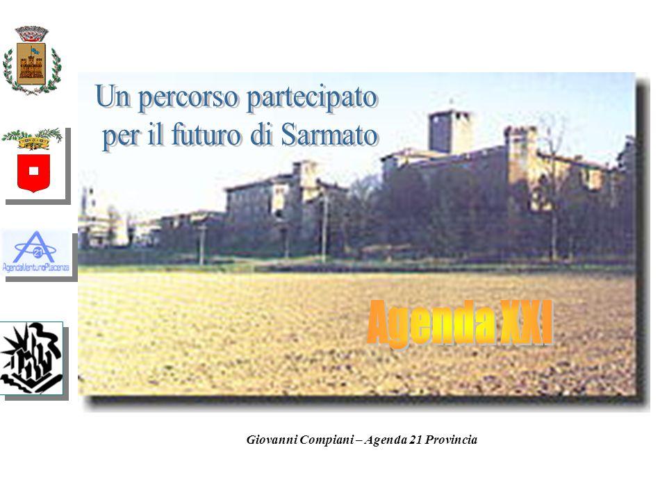 Fine 2000 Processo del Progetto Agenda 21 Locale - Provincia di Piacenza EASW Piacenza Provincia sostenibile nel 2010