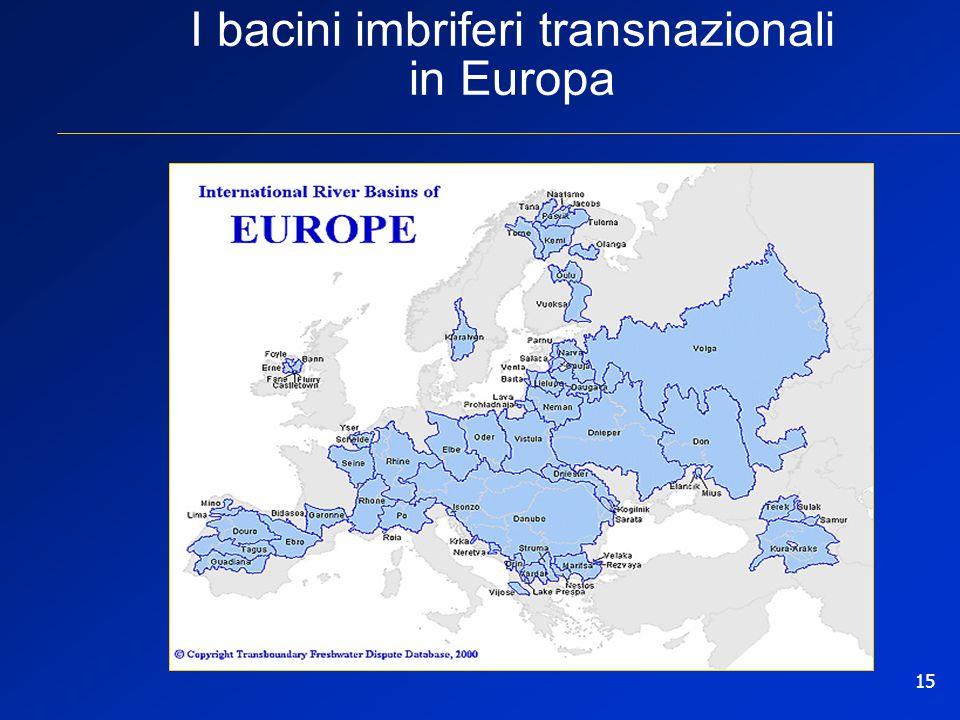 15 I bacini imbriferi transnazionali in Europa
