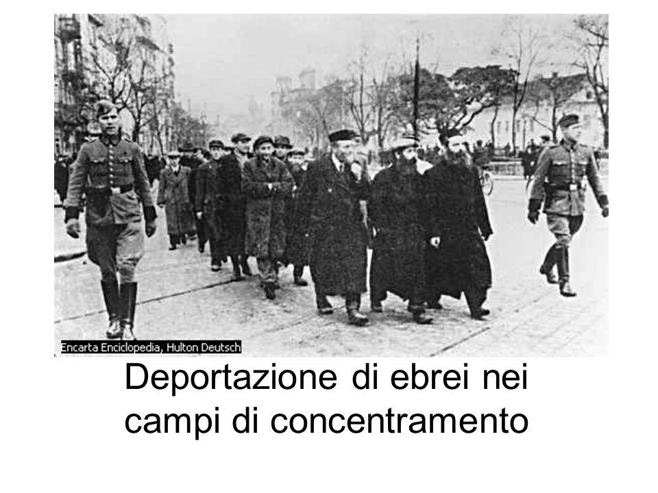 Deportazione di ebrei nei campi di concentramento