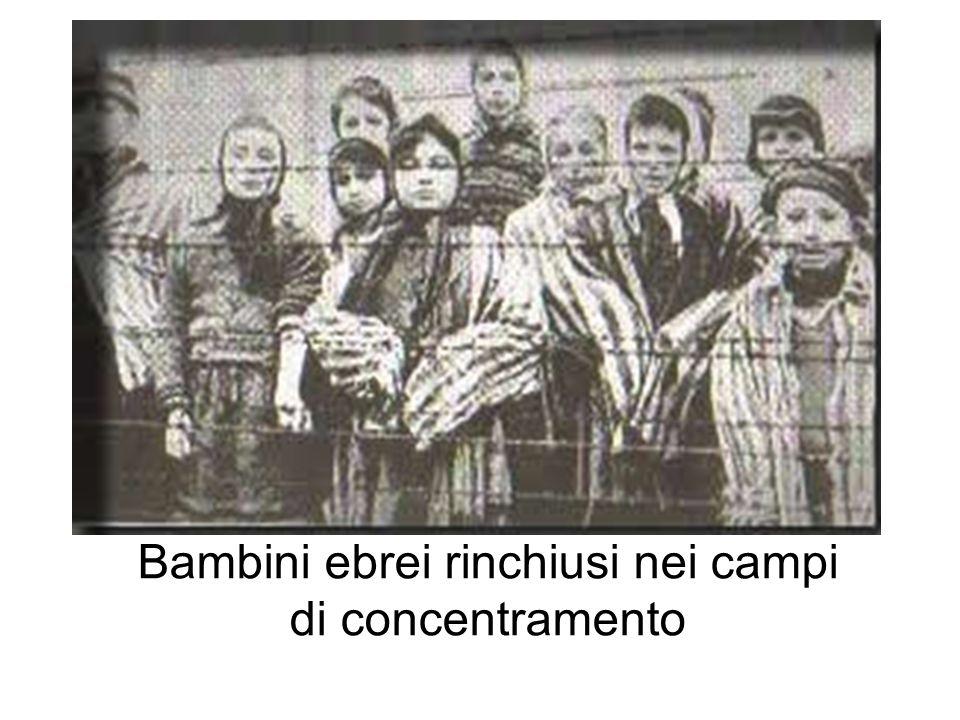 Bambini ebrei rinchiusi nei campi di concentramento