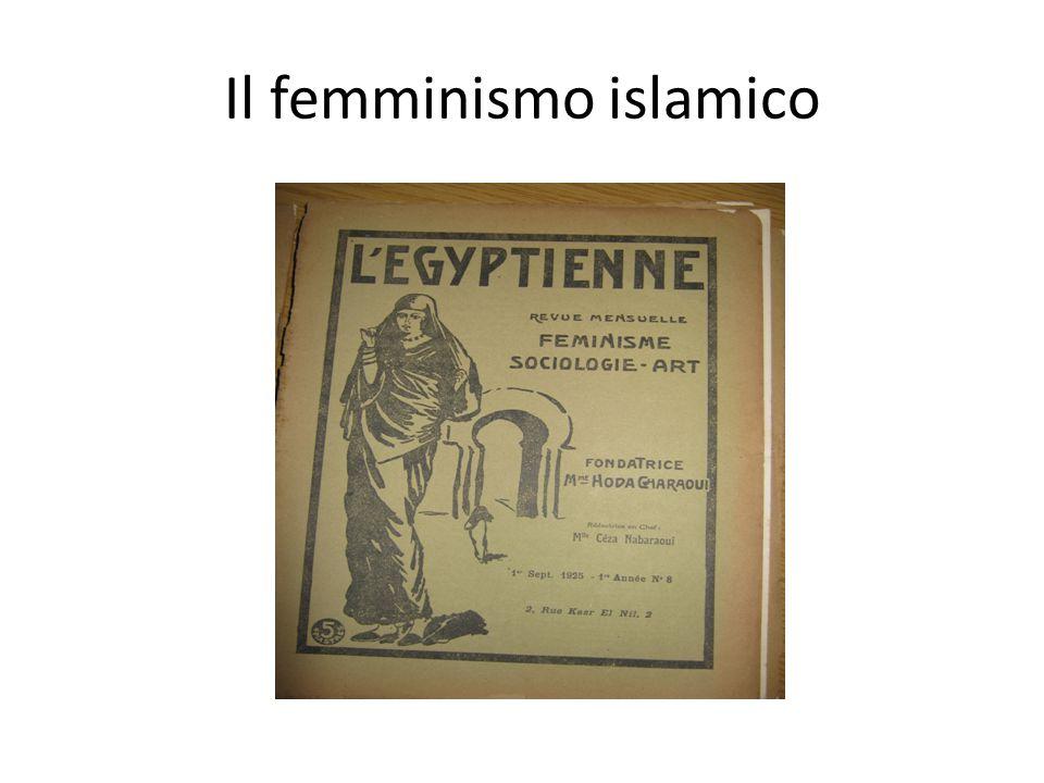 Il regime dell'Egitto libero, [e che] aspira a maggior libertà ancora, nel secolo dell'indipendenza dei popoli, all'epoca del femminismo ovunque trionfante anche nei paesi prima ostili a questa emancipazione! (Ceza Nabaraoui, in L'Egyptienne, 1927) All'inizio degli anni '20, il termine femminismo si diffonde in Egitto, in francese e in arabo (nisa'iyya).