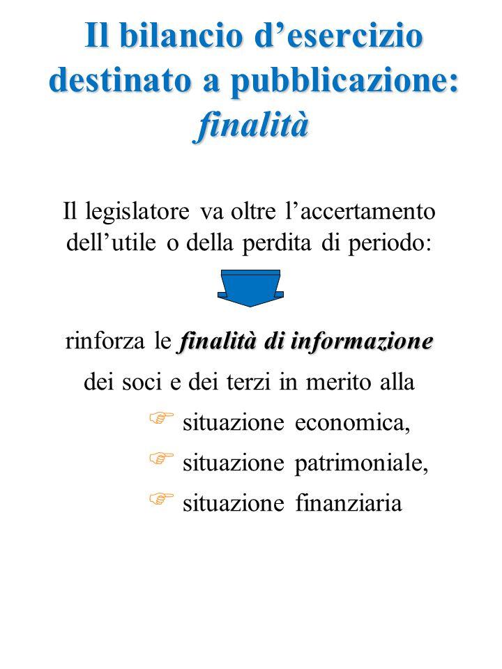 Il legislatore va oltre l'accertamento dell'utile o della perdita di periodo: finalità di informazione rinforza le finalità di informazione dei soci e