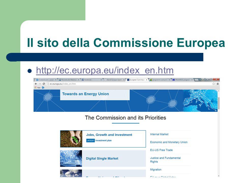 Il sito della Commissione Europea http://ec.europa.eu/contracts_grants/grants_en.htm http://ec.europa.eu/contracts_grants/grants_en.htm