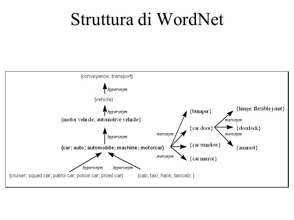 Struttura di WordNet