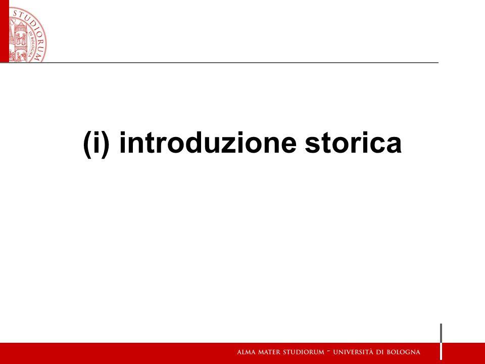 (i) introduzione storica