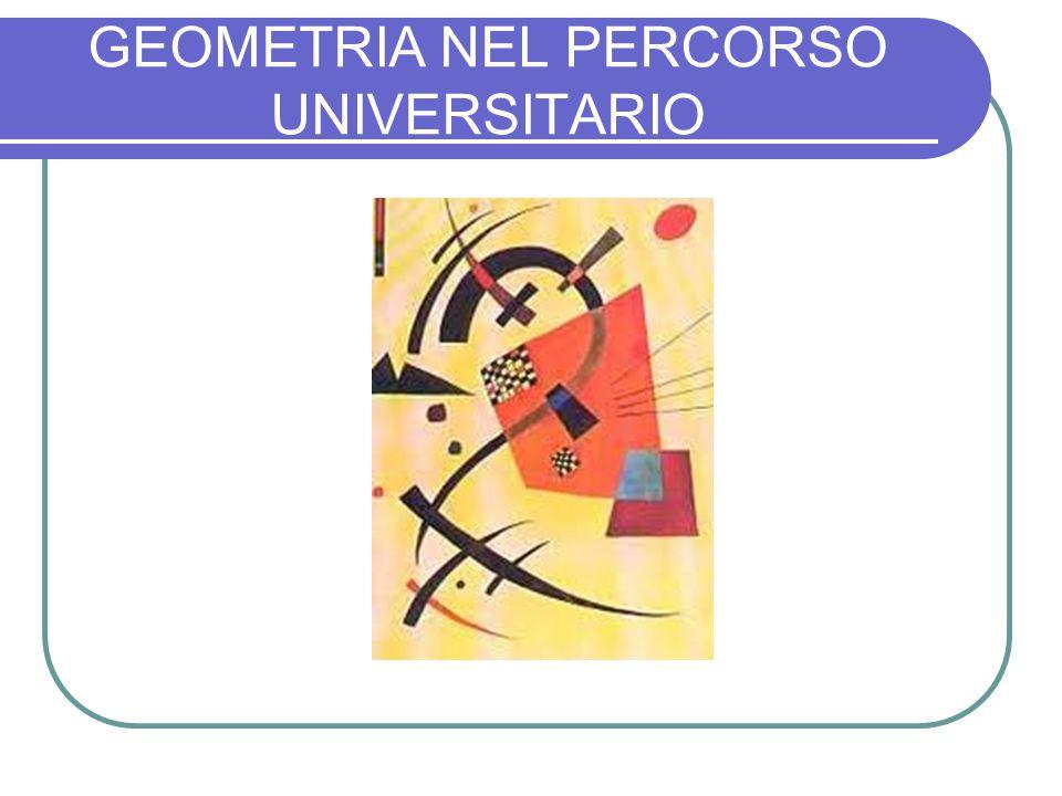 GEOMETRIA NEL PERCORSO UNIVERSITARIO