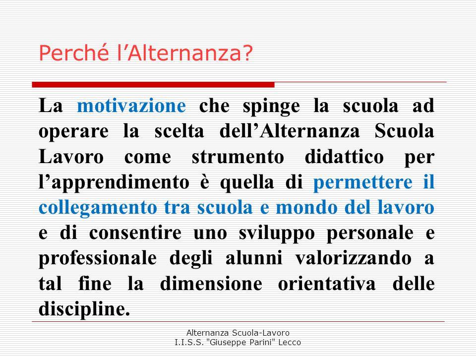 Alternanza Scuola-Lavoro I.I.S.S.