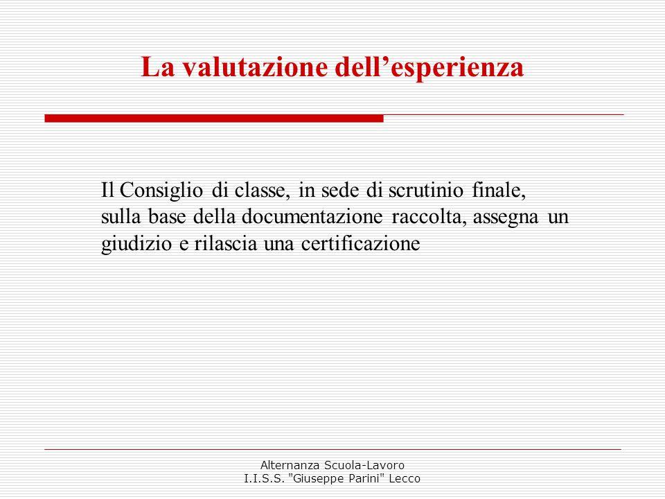 Istituto d'Istruzione Superiore Statale Giuseppe Parini - Lecco Alternanza Scuola-Lavoro I.I.S.S.