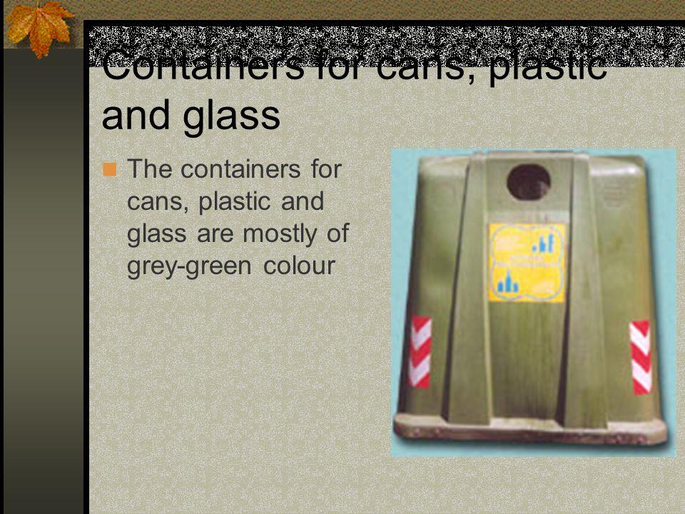 CONTENITORI PER CARTA/CARTONE I contenitori per carta e cartone sono prevalentemente di colore giallo/arancio.