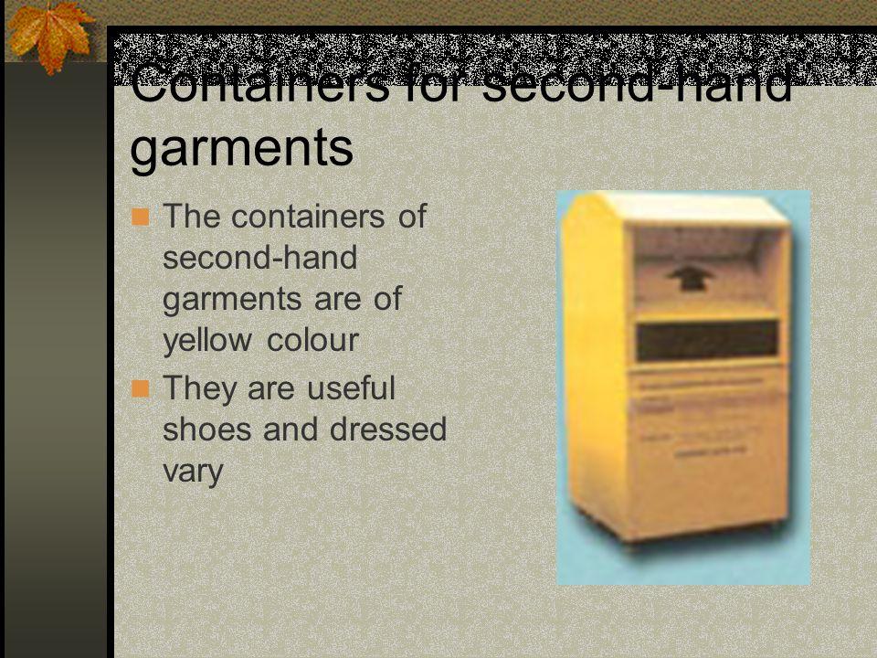 CONTENITORI PILE E FARMACI I contenitori per pile e farmaci sono prevalentemente di colore giallo.