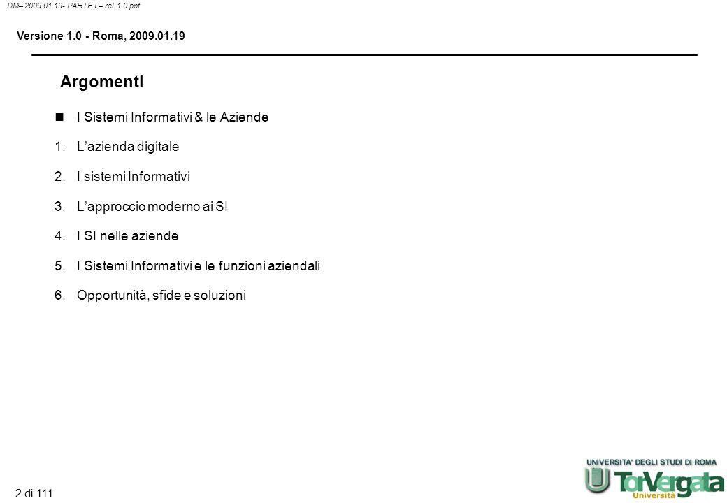 2 di 111 DM– 2009.01.19- PARTE I – rel.