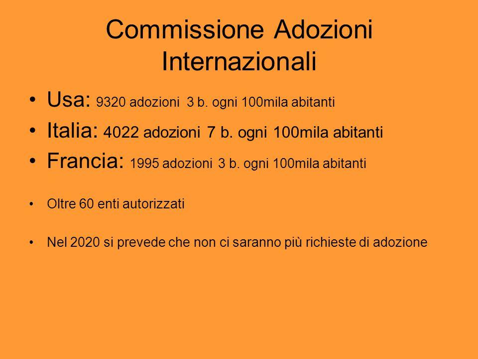 Commissione Adozioni Internazionali Usa: 9320 adozioni 3 b.
